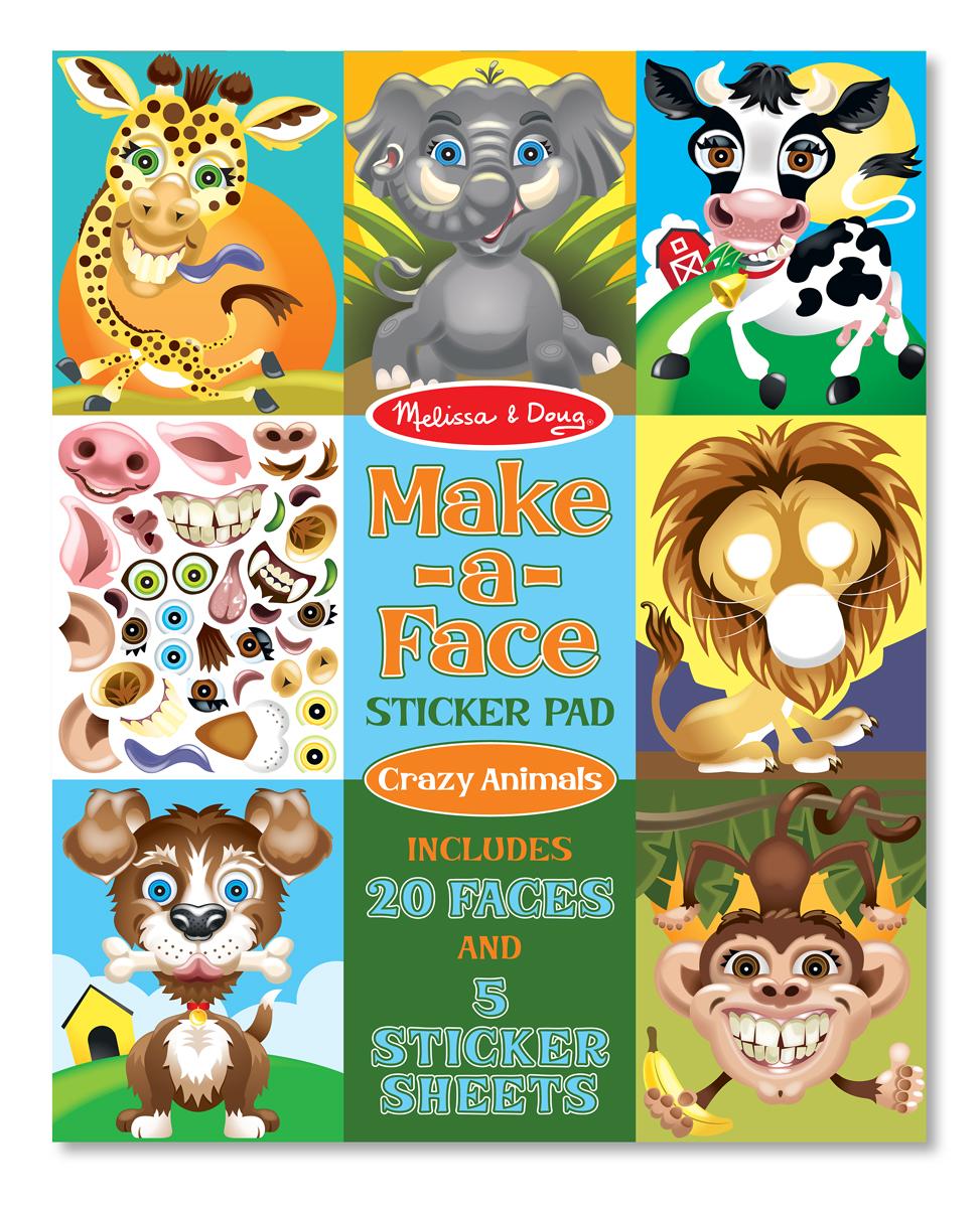 Набор стикеров Животные, с фонамиНаклейки<br>Набор стикеров Животные, с фонами<br>