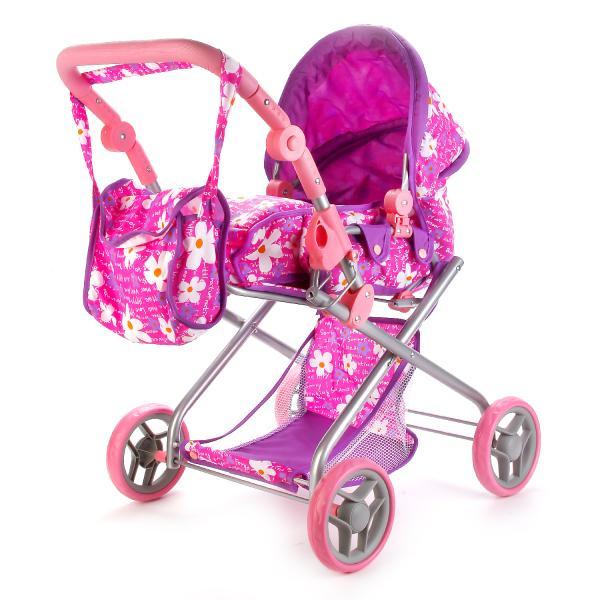 Коляска для кукол с сумкой, переноской и съемным верхомКоляски для кукол<br>Коляска для кукол с сумкой, переноской и съемным верхом<br>