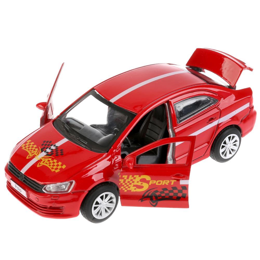 Металлическая инерционная модель – VW Polo Спорт, 12 см фото