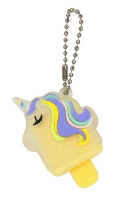 Купить Бальзам для губ Ice-cream Unicorn с нежным ароматом ванили 1, 2 г, с подвеской-цепочкой, коробочка, Lucky