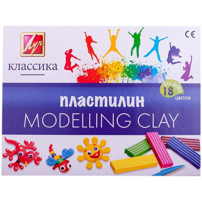 Пластилин – Классика, 18 цветовНаборы для лепки<br>Пластилин – Классика, 18 цветов<br>
