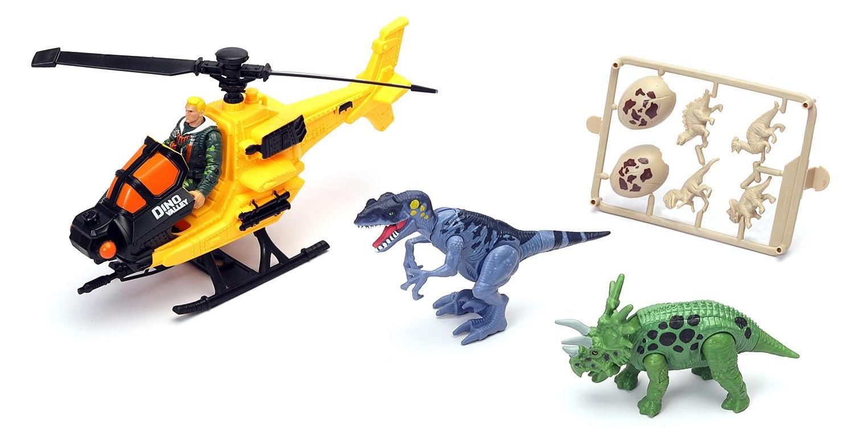Купить Игровой набор – Охотник за динозаврами, с вертолётом, Chap Mei