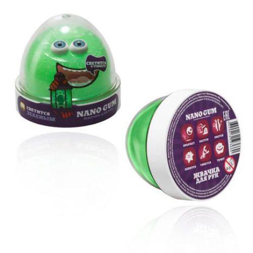 Жвачка для рук из серии Nano gum светится зеленым, 50 гр.Жвачка для рук<br>Жвачка для рук из серии Nano gum светится зеленым, 50 гр.<br>