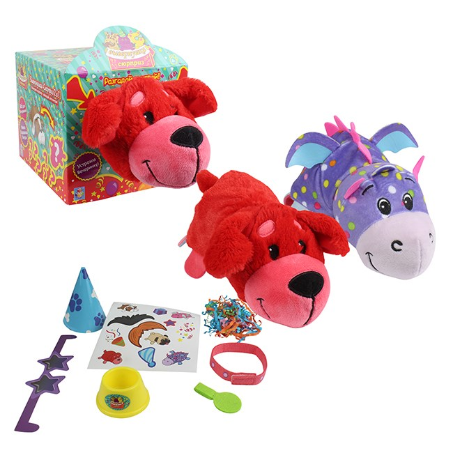 Купить Мягкая игрушка из серии Вывернушка-Сюрприз 2в1 Красный сеттер, 23 х 12 х 12 см., 1TOY