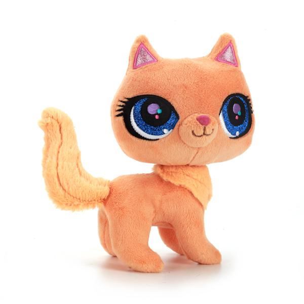 Мягкая игрушка – Рыжая кошка из мультфильма Litttelest Pet Shop, озвученная, 17 см.Littlest Pet Shop – Маленький зоомагазин<br>Мягкая игрушка – Рыжая кошка из мультфильма Litttelest Pet Shop, озвученная, 17 см.<br>