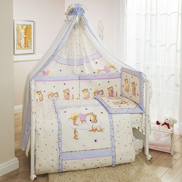 Комплект постельного белья Ника, лиловыйДетское постельное белье<br>Комплект постельного белья Ника, лиловый<br>