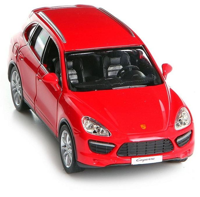 Купить Металлическая инерционная машина RMZ City - Porsche Cayenne Turbo, 1:32, красный матовый