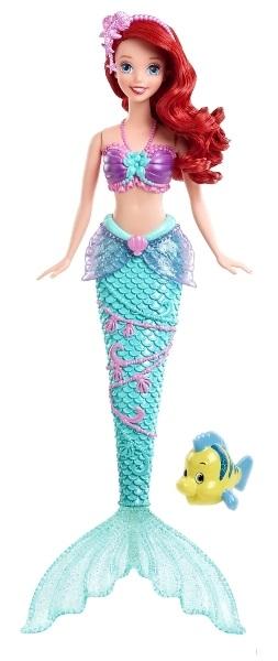 Disney Princess - кукла Ариэль с фонтанчиком и рыбкой ФлаундеромАриэль<br>Disney Princess - кукла Ариэль с фонтанчиком и рыбкой Флаундером<br>