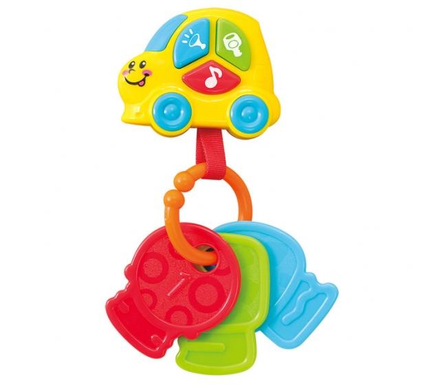 Развивающая игрушка - Брелок с ключами, звукРазвивающие игрушки PlayGo<br>Развивающая игрушка - Брелок с ключами, звук<br>
