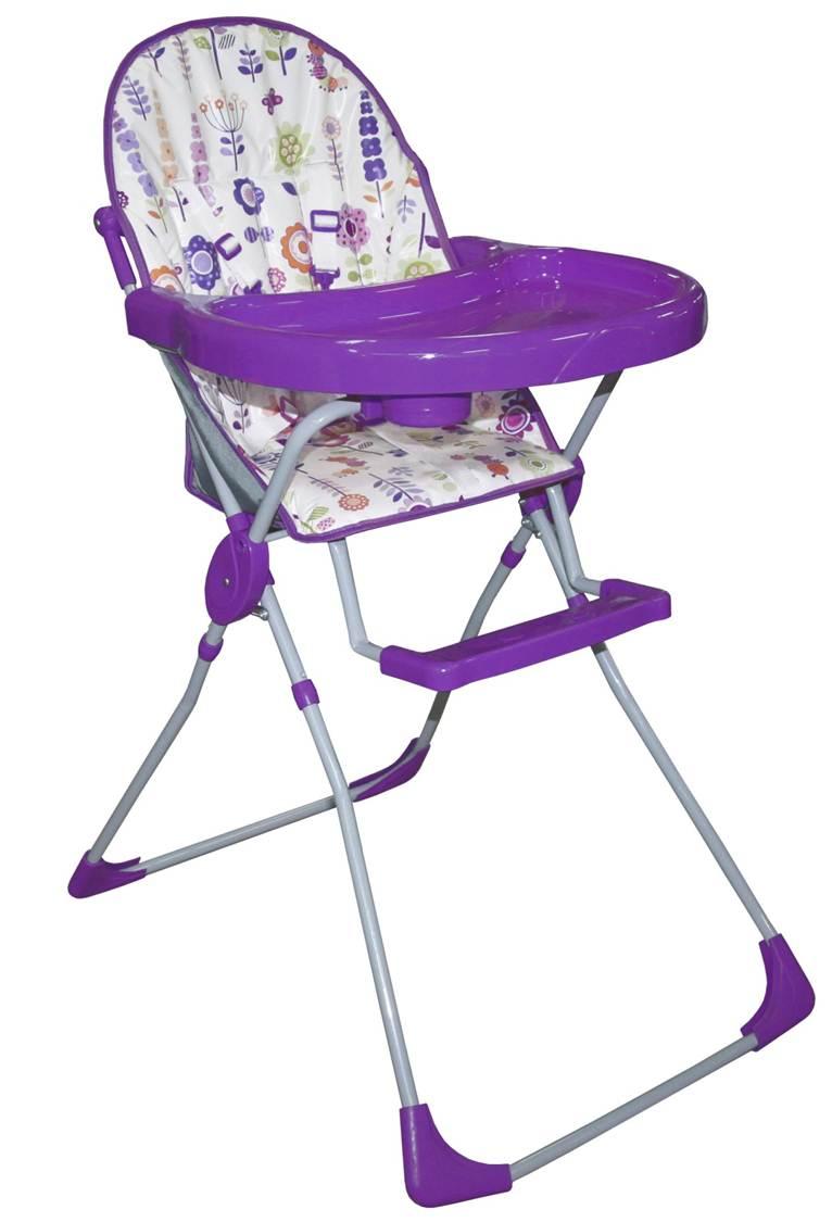 Стульчик для кормления – Selby 152 Яркий луг, фиолетовыйСтульчики для кормления<br>Стульчик для кормления – Selby 152 Яркий луг, фиолетовый<br>