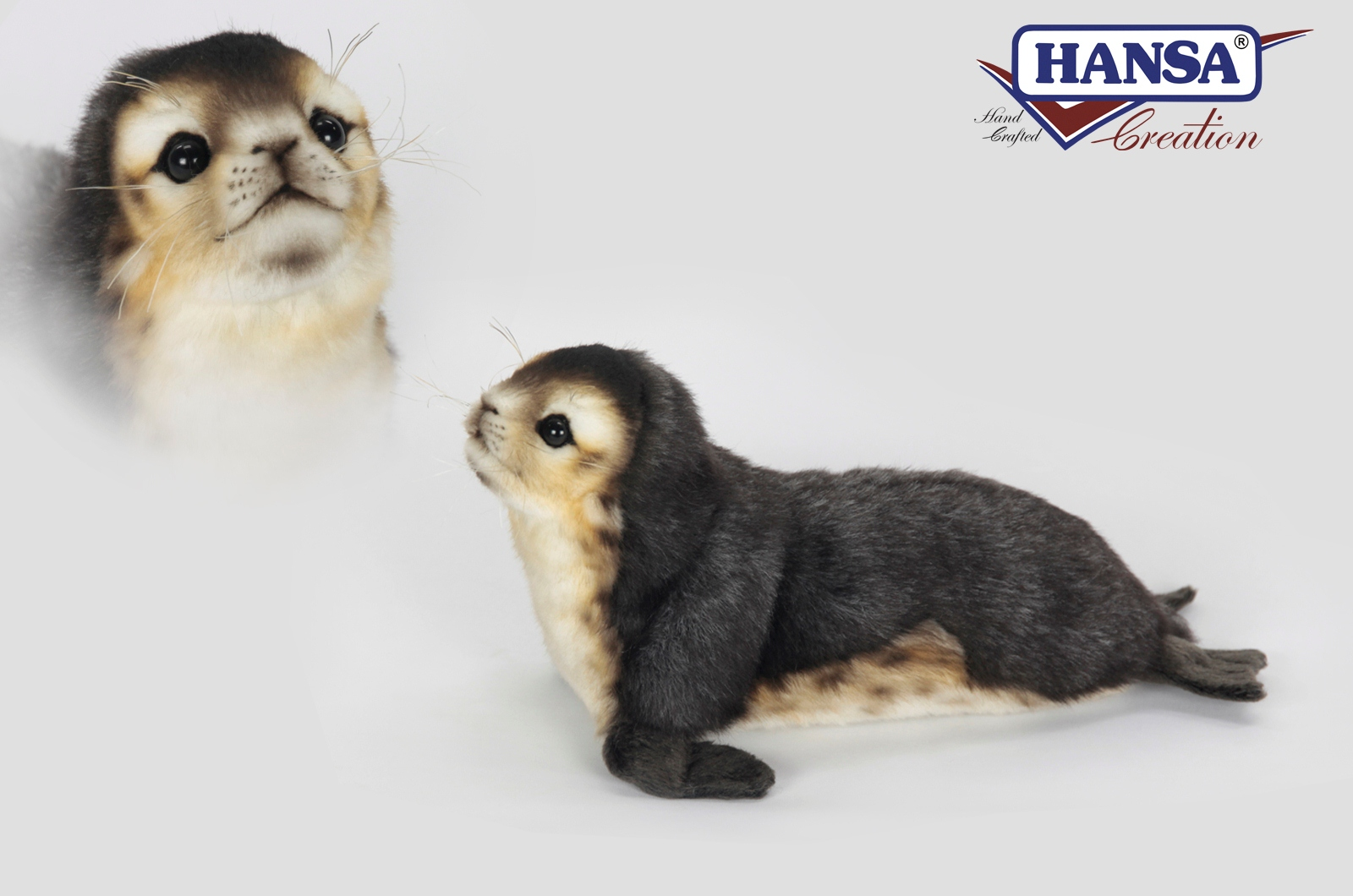 Мягкая игрушка – Детеныш тюленя-монаха, 30 см