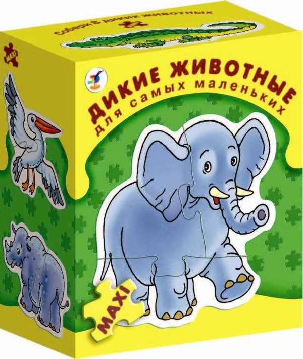 Игра настольная из серии «Для самых маленьких» - Дикие животныеПазлы для малышей<br>Игра настольная из серии «Для самых маленьких» - Дикие животные<br>