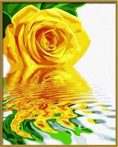 Желтая роза, 40*50 смРаскраски по номерам Schipper<br><br>