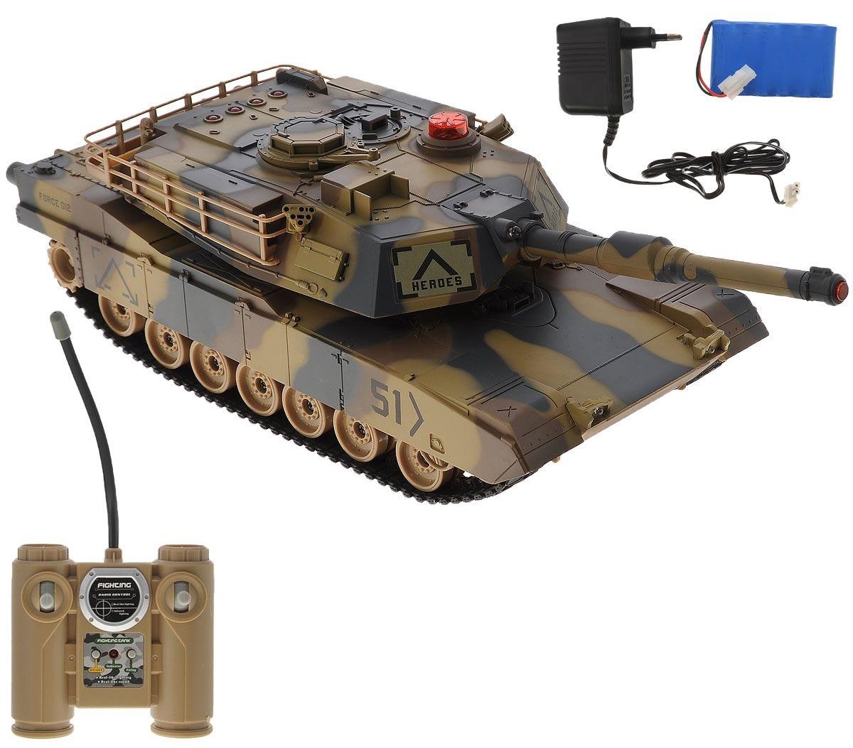 Боевой радиоуправляемый танк с эффектом звука и светаРадиоуправляемые танки<br>Боевой радиоуправляемый танк с эффектом звука и света<br>