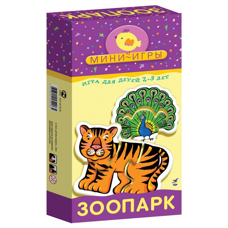 Игра настольная из серии Мини-игры – ЗоопаркДля самых маленьких<br>Игра настольная из серии Мини-игры – Зоопарк<br>