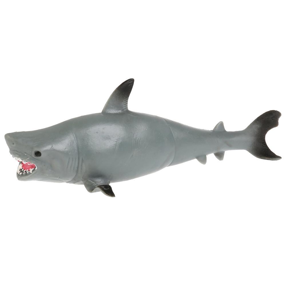 Купить Игрушка пластизоль тянучка/гель - Тигровая акула, 19, 5 см, Играем вместе