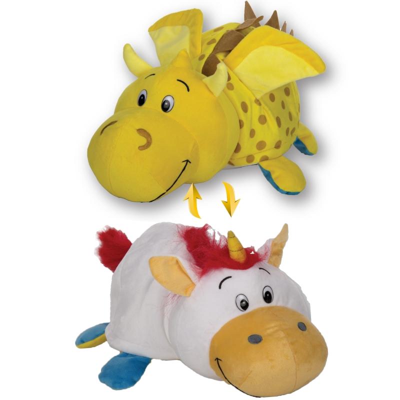Купить Плюшевая игрушка Вывернушка 2 в 1 - Единорог-Дракон, 40 см, 1TOY