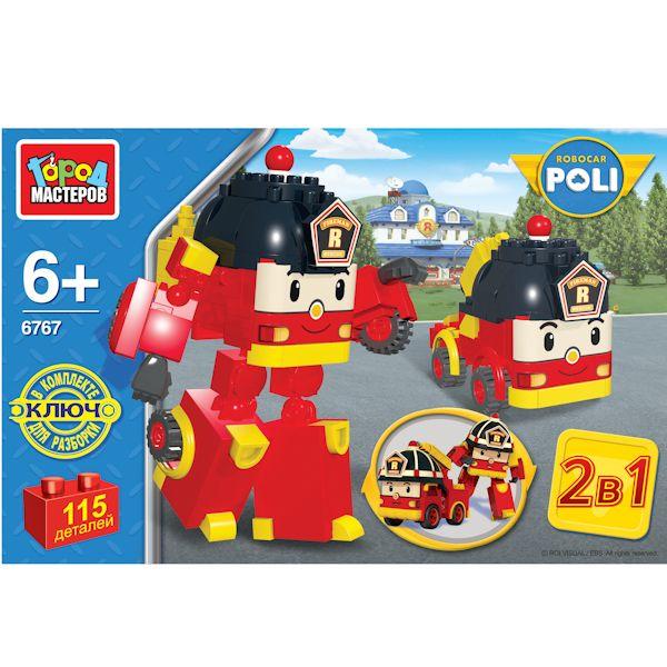 Конструктор 2-в1 – Робот Пожарная машина, 115 деталейRobocar Poli. Робокар Поли и его друзья<br>Конструктор 2-в1 – Робот Пожарная машина, 115 деталей<br>