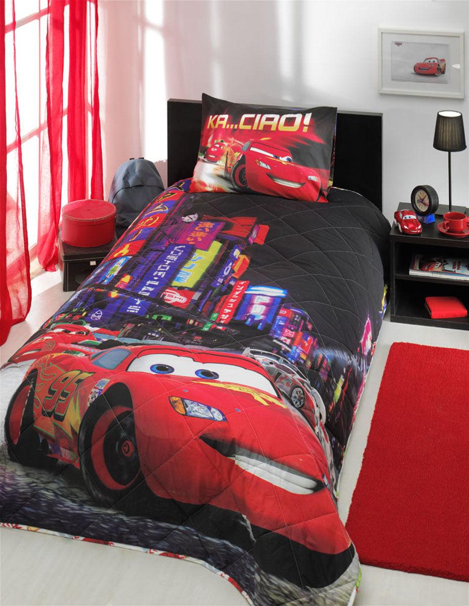 Покрывало детское с наволочкой - Cars 2 Movie, 1,5 спальноеДетские покрывала и пледы<br>Покрывало детское с наволочкой - Cars 2 Movie, 1,5 спальное<br>