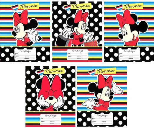 Тетрадь 18 листов Линейка «Минни» DisneyТетради<br>Тетрадь 18 листов Линейка «Минни» Disney<br>