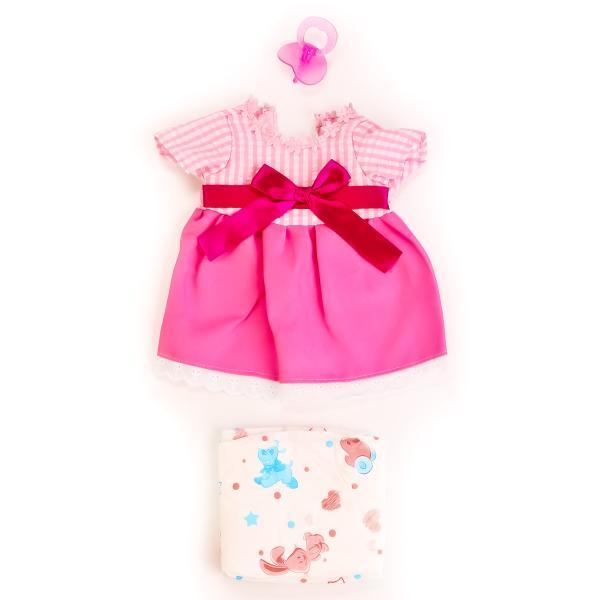 Одежда для кукол – Платье, памперс, соскаОдежда для кукол<br>Одежда для кукол – Платье, памперс, соска<br>