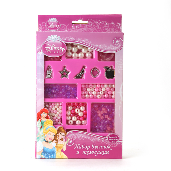 Набор бусин и жемчужин Disney - Принцессы, более 410 деталейТворчество<br>Набор бусин и жемчужин Disney - Принцессы, более 410 деталей<br>