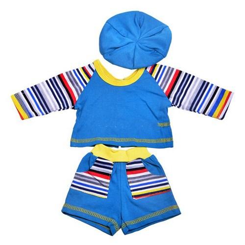 Карапуз Комплект одежды для куклы: футболка, шортики, кепка, размер 40 – 42 см.