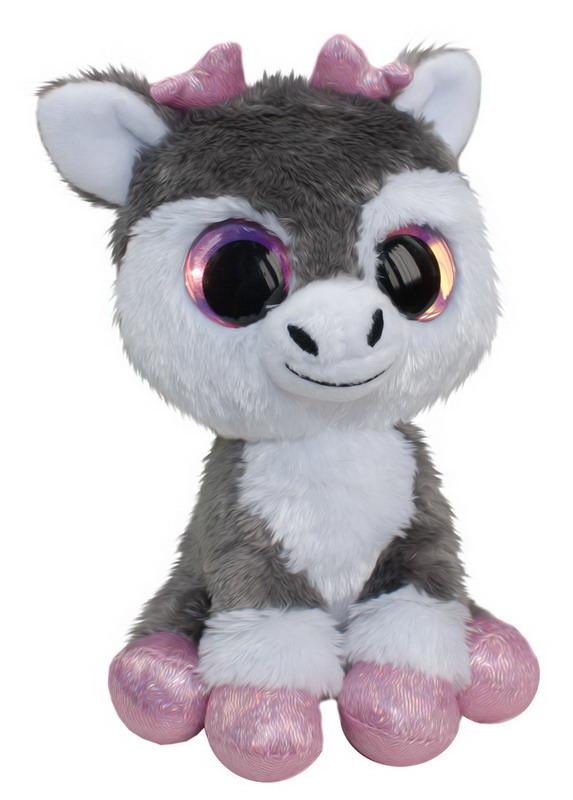 Мягкая игрушка - Олененок Poro, серый, 15 см