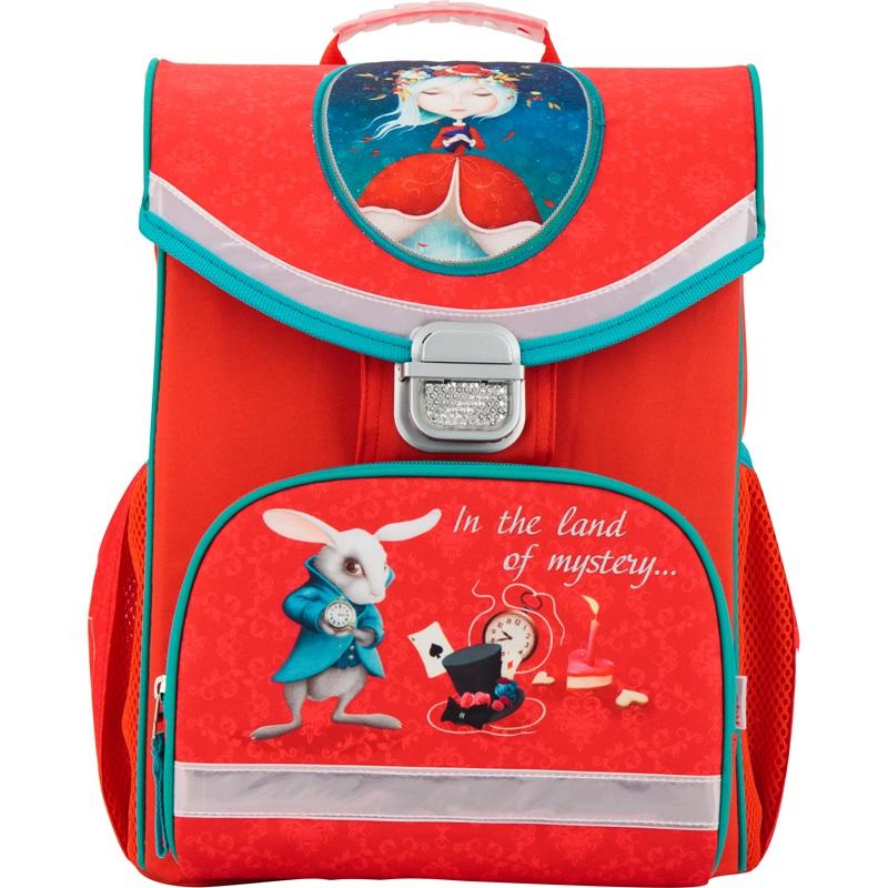 Рюкзак школьный каркасный 529 Alice in wonderland - Школьные рюкзаки, артикул: 166172