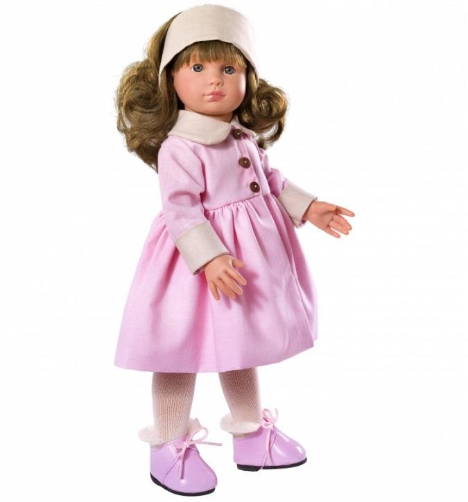 Кукла Нелли в розовом пальто, 43 см.Куклы ASI (Испания)<br>Кукла Нелли в розовом пальто, 43 см.<br>