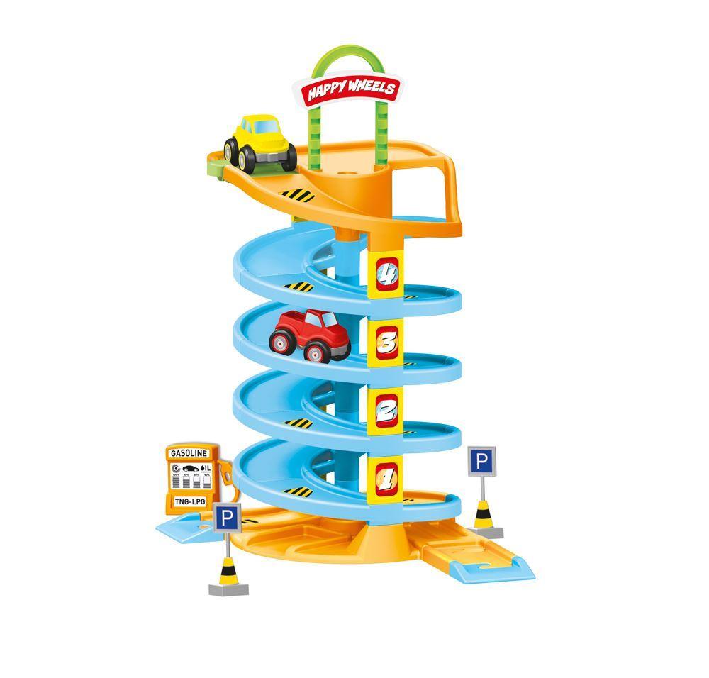 Купить Игровой набор - Спиральная дорога с машинками, Dolu
