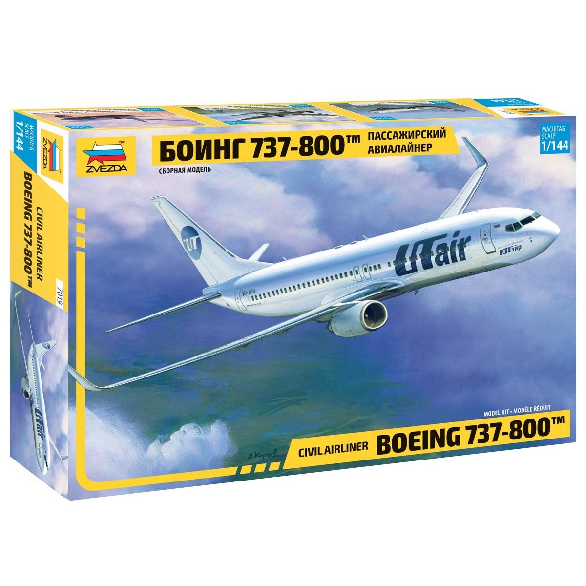 Купить Сборная модель Пассажирский авиалайнер - Боинг 737-300, ZVEZDA