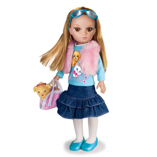 Озвученная кукла Карапуз с питомцем и набором аксессуаров, 40 смКуклы Карапуз<br>Озвученная кукла Карапуз с питомцем и набором аксессуаров, 40 см<br>