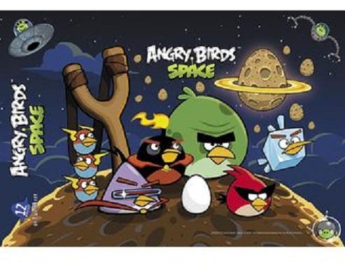 Купить Пазл 12 элементов 20, 3 х 29, 7 мм в рамке Angry Birds, Hatber