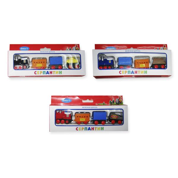 Поезд инерционный, 4 вагонаДетская железная дорога<br>Поезд инерционный, 4 вагона<br>