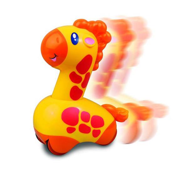 Игрушка из серии Нажми и поедет - ЖирафМашинки для малышей<br>Игрушка из серии Нажми и поедет - Жираф<br>