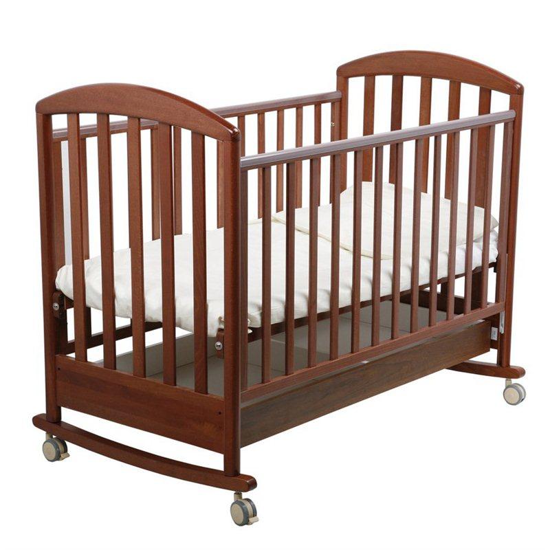 Детская кроватка-качалка Джованни, орех темныйДетские кровати и мягкая мебель<br>Детская кроватка-качалка Джованни, орех темный<br>