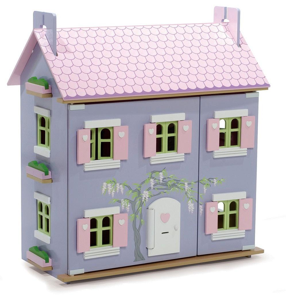 Домик игрушечный для кукол - Лавандовый