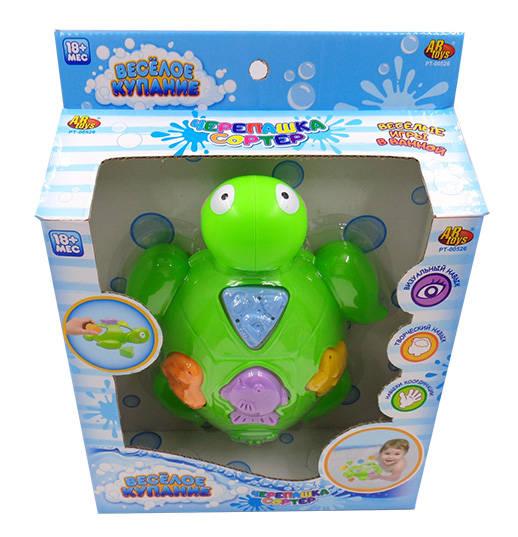 Черепашка для ванной, в наборе с аксессуарами – Веселое купаниеРазвивающие игрушки<br>Черепашка для ванной, в наборе с аксессуарами – Веселое купание<br>