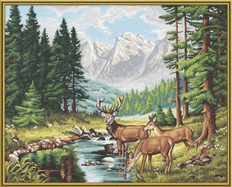 Раскраска картина Горный пейзажРаскраски по номерам Schipper<br>Раскраска картина Горный пейзаж<br>