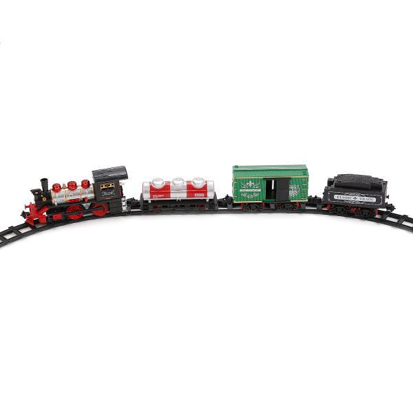 Железная дорога на батарейках, свет и звук, с дымом - Детская железная дорога, артикул: 171668