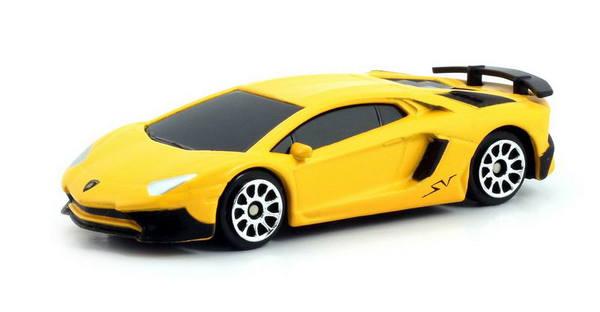 Купить Металлическая машина - Lamborghini Aventador LP 750-4 Superveloce, 1:64, матовый желтый, RMZ City
