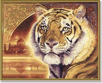 Тигр, 40х50 смРаскраски по номерам Schipper<br>Хочется, чтобы у вас в доме  на стенах висели оригинальные картины? Нарисуйте их сами! Нет способностей к рисованию? Раскраски по номерам schip...<br>