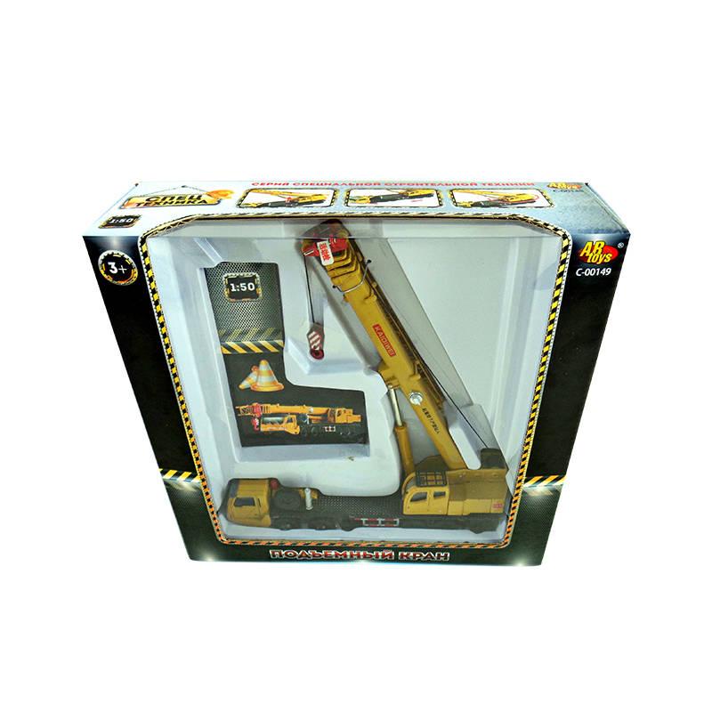 Металлическая машина – Спецтехника - Подъемный кран, 1:55 от Toyway