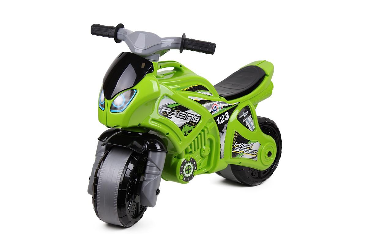 Купить Каталка-мотоцикл беговел 5859 - Racing High Speed, цвет зеленый, RT