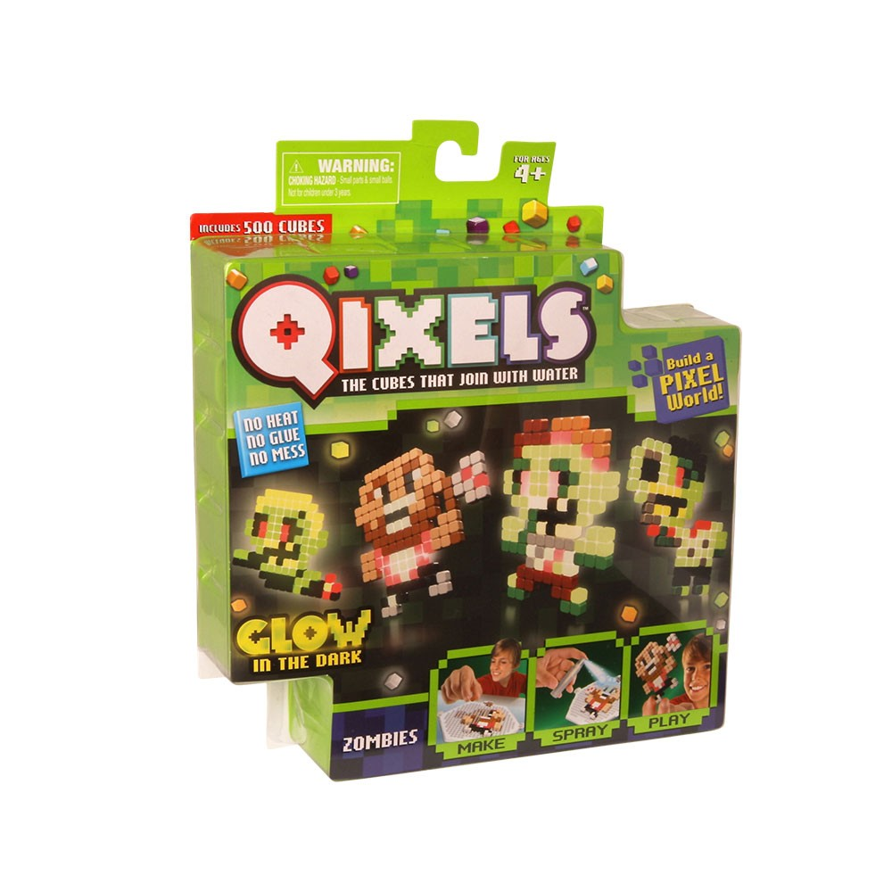Купить Набор для творчества Qixels - Зомби, светится в темноте, MOOSE ENTERPRISE