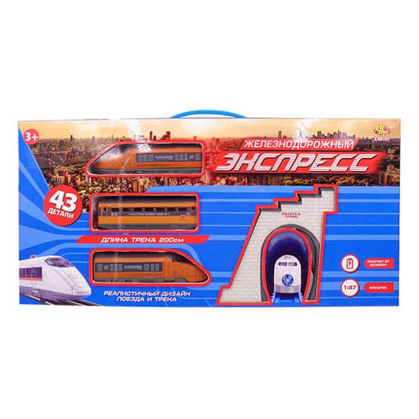 Железная дорога - Экспресс, 200 см, 43 предмета )Детская железная дорога<br>Железная дорога - Экспресс, 200 см, 43 предмета )<br>