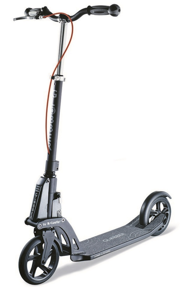 Самокат Y-Scoo Globber My Too 180 Automatic by Kleefer со складным механизмом, черный  - купить со скидкой