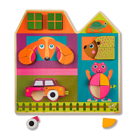 Игрушка развивающая - пазл Построй домРамки и паззлы<br>Игрушка развивающая - пазл Построй дом<br>