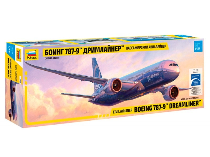 Модель сборная - Самолёт - Боинг 787-9Модели самолетов для склеивания<br>Модель сборная - Самолёт - Боинг 787-9<br>